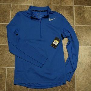 Nike Dri-Fit AeroReact Quarter Zip Blue Jacket
